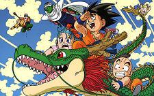 Poster A3 Dragon Ball Z Goku Shelong Krilin Piccolo Super Saiyan