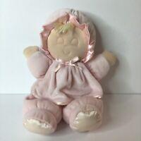 Eden Pink Velour Sleeping Eyes Closed Baby Doll Plush Blonde Stuffed Lovey Toy