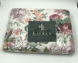 Ralph Lauren Allison Floral Multi Flat Sheet Twin Made USA Cotton NIP Sealed -m3