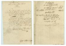 ANTIK Alte Handschrift Urkunde Actum Sömmerda 1791