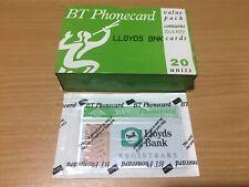 Lloyds Bank Registrars BT Phonecard 1991 -  Complete Sealed Box of 20 Unit Cards
