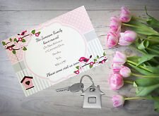 10 Personalised handmade Change of Address New Home House Moving Cards AC18