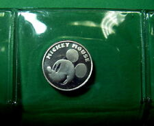 Mickey Mouse, Walt Disney .999 Pure Silver Medallion, Coin, Sealed