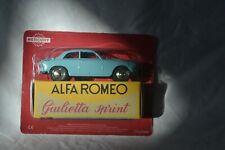 HACHETTE MERCURY TOYS 1/48th ALFA ROMEO GIULIETTA SPRINT BLUE CAR MODEL LY01