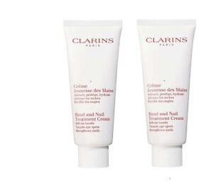 Clarins Hand and Nail Treatment Cream - 100 ml x 2 = 200 ml - New