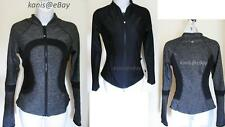 2in1 REVERSIBLE NWT New LULULEMON Find Your Bliss Jacket Women 4 Heathered Black