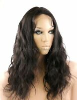 """100% PREMIUM INDIAN REMY HUMAN HAIR FULL LACE WIG BODY WAVE WAVY  8"""" TO 26"""""""