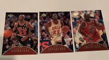 Michael Jordan 1997-98 Upper Deck Air Time Departure 3 Card Lot Bulls