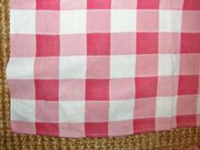 Red & White Woven Check Small Square Tablecloth Picnic Barbecue 38x41 Inches