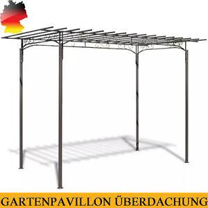 Pavillon Gartenpavillon Überdachung Pergola Rosenpavillon Stahl 190 x 320 cm