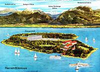 Die Herreninsel am Chiemsee , gel. AK