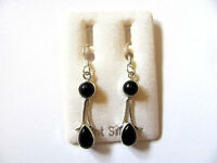 Onyx Ohrhänger - Onyx Earrings 925 Silber Nr. E1278