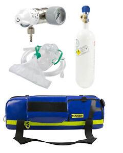 SET Notfalltasche MBOL Druckminderer Sauerstoffflasche 2l (Taucher Tauchsport)