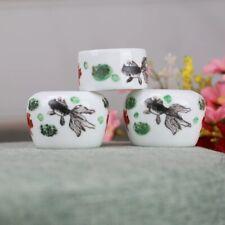1set 3pcs Asian Bamboo Bird Cage Fish goldfish cups 金鱼鸟食�