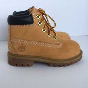 Timberland boots size 8 New toddler boys Newbuck Wheat shoes Waterproof