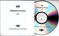 U2 Window In The Skies 2006 UK 1-track promo test CD with misprinted sleeve