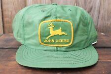 Vintage John Deere Louisville Mfg Made In USA Trucker Hat Baseball Cap Patch