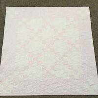 Handmade Baby or Toddler Quilt-Pink & White Irish Chain