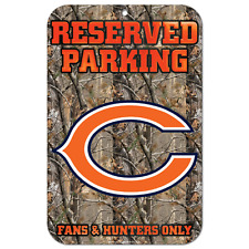 "Chicago Bears Parking Sign Real Tree 11""x17"""
