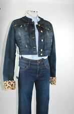 Apriori Jeansjacke 38 Jacke blau kurz used look mit Fellmanschette neu m.Etikett
