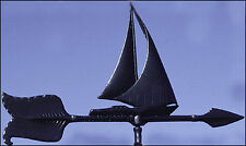 "Whitehall 24"" Sailboat Accent Weathervane Black Roof Mount Ships Free & Fast"