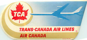 TCA TRANS CANADA~ Great Old Airline Luggage Label