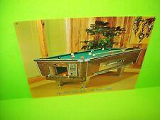 United Billiards Model Z Original Vintage Arcade Pool Table Coin-Op Promo Flyer