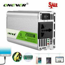 ONEVER 2000W Car Inverter Converter Modified Sine Wave Power  DC 12v to AC 220V
