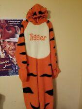 Disney Store Deluxe Costume Tigger Talking Adult M Winnie Pooh Plush Full Zip