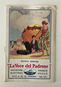 LISTINO MENSILE NOVITA' LA VOCE DEL PADRONE N. 13 1 NOVEMBRE 1928 NUOVI DISCHI