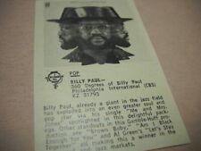 Billy Paul original 1972 music biz Soul album review 360 Degrees Of Billy Paul