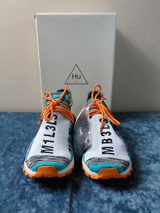 Adidas X Pharrell Williams Afro Hu NMD Solar Pack Orange Aqua BB9528 Size 9.5