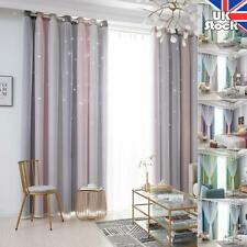 Double-layer Window Curtains Stars Hollow Yarn Tulle Drapes Living Room Bedroom