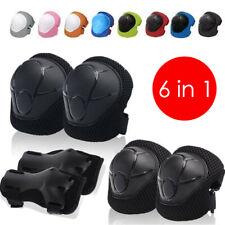 6Pcs/Set Elbow Wrist Knee Pad Sport Safety Protective Gear Guard for Kid Adult