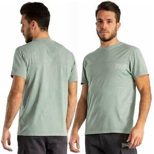 T-shirt uomo EVERLAST sport maglia con taglio orizzontale maglietta verde salvia