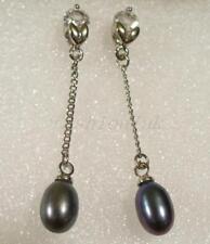 Orecchini di bigiotteria farfalline perle nere