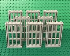 Lego X8 Light Bluish Gray Door Frame 1x4x6 W/ Lattice Barred Bars Bulk Parts Lot