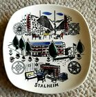 "STAVANGERFLINT 6-1/2"" Hand Painted Silk Screen Plate, of Stalheim Norway"