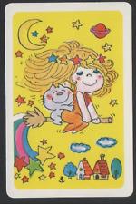 Swap Playing Cards 1 Japanese Nintendo 70's Ado Mizumori Girl & Cat A312
