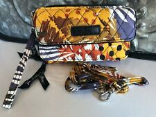 VERA BRADLEY~All in One Crossbody Wristlet Wallet~PAINTED FEATHERS~NWT!