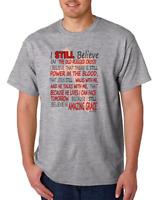 USA Made Bayside T-shirt Christian Hymns Songs I Still Believe
