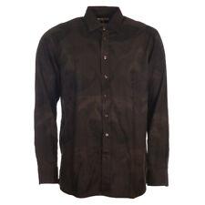 ETRO Shirt Brown Bear Pattern Cotton Size 40 RRP £199 TR 357