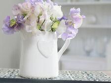 ANTIQUE VINTAGE CHIC WHITE FRENCH HEART MILK JUG/VASE/PITCHER FLOWER WEDDING