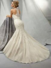 Organza Halterneck Sleeveless Wedding Dresses