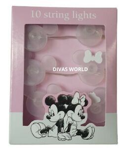 Disney Mickey Minnie Mouse 10 Led String Light Indoor Fairy Lights PRIMARK