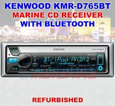 KENWOOD KMR-D765BT MARINE CD RECEIVER WITH BLUETOOTH USB AUX FACTORY REFURBISHED