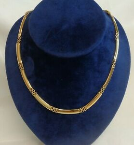 Fine Fancy Necklace 750 (18ct) Yellow Gold - Length 17in (43cm)  - 21.7 grams