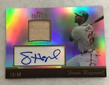 2011 Topps Tribute Jason Heyward Auto Autograph Bat Card 73/99 Braves