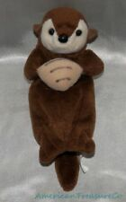 "Rare ARCTIC CIRCLE Plush Beanie 7"" Chocolate Brown BABY OTTER PUP w/Plush Clam"