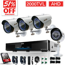 ELEC 8CH 1080N 2000TVL AHD DVR Outdoor CCTV IR Home Security Camera System 1TB